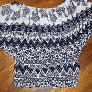 3 for 20  print off shoulder boho blouse Sz 2x